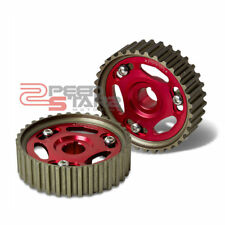 FOR B-SERIES B16/B17/B18/B20 DOHC ADJUSTABLE ANUMINUM RED PULLEY CAM GEAR