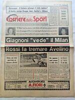 CORRIERE DELLO SPORT 13-4-1979 PAOLO ROSSI AVELLINO GIAGNONI MILAN BECCALI