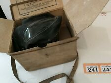 More details for canvas cased and boxed wwii gas mask by avon 9-39, medium size