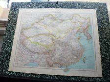 Carte géographique couleur de 1908: EMPIRE CHINOIS