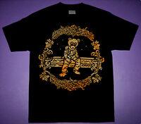 New Black Metallic Gold Drop Out  Kanye Bear shirt west wymong merch cajmear  L