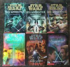 Star Wars Lote 6 Libro en Rústica Jedi Apprentice 1 2 3 + SP ED Jedi Quest #2 último de Jedi 7