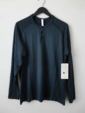 Nwt Lululemon Blk/Marn Black Green Metal Vent Tech Ls Henley Top Shirt Men's Xl