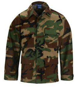 Propper 4 Pocket Coat Poly Cotton Woodland camo F5454 XL long