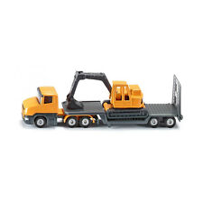 Siku 1611 Scania Low loader with excavator orange/grey Blister Model car °