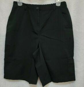 Studio Works Womens Black Shorts Size 18W