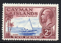 Cayman Islands 2d Stamp c1932 Mounted Mint (3736)