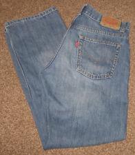 LEVI'S 505 Denim Jeans - 16 Reg - 28 x 28 - 100% Cotton - Factory Fading & Hige!
