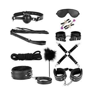 10pcs Leather Bondage Kit - Adult SEX TOYS / BDSM under bed Kit