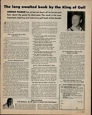 1966 Arnold Palmer's Golf Book Release Vintage Print Ad 1508