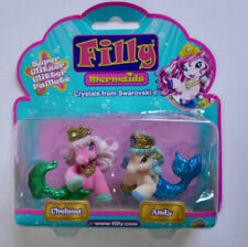 FILLY GLITTER MERMAIDS CHELSEA & ANDY HORSE FIGURE SET DRACCO 3+YRS *NEW