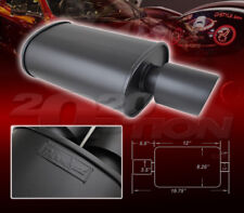 DOUBLE-WALL SLANT TIP MUFFLER OVAL SPUN-LOCK TANK FOR FORD HONDA INFINITI JEEP