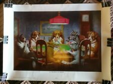 DOGS PLAYING POKER - A FRIEND IN NEED - REPRODUCTION