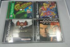 Playstation 1 Video Game Lot Rascal,  Rage Racer, Trigger, 007