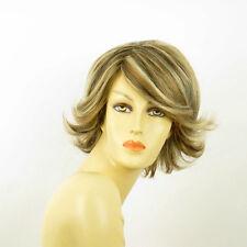 Perruque femme méchée courte blond clair méché cuivré chocolat EDWIGE 15613H4