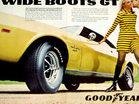 1969 AMC JAVELIN SST / ORIGINAL GOODYEAR AD *hood/door/steering wheel/bumper/390