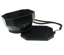 58mm Lens Hood BLACK PLASTIC SQUARE Video Shade for Sony Camcorder Camera,in USA