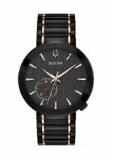Bulova 98A188 Special Latin Grammy Edition Men's Black and Rose Gold 38mm Watch