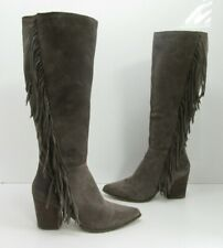 Women's Steve Madden Cacos Fringe Boot Grey Size 9.5 M
