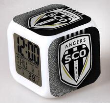 Réveil numerique Digital Angers SCO Cube à effet lumineux alarme football
