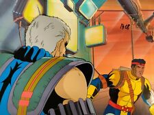 FORGE CABLE 90s X-MEN ANIMATION CEL & Hand Painted Background with COA