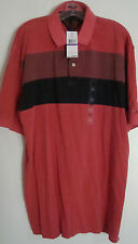 TOMMY HILFIGER MEN'S POLO SHIRT-SIZE XXL-100% COTTON-RED/BLUE-NWT-FREE SHIPPING