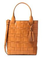 NWT Michael Kors Vivian N/S Large Leather Tote Bag Peanut MSRP $458