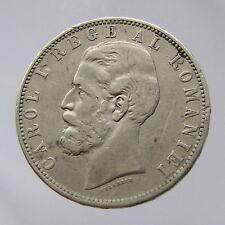 Romania, Carol I, ARGENTO 5 LEI, 1884, F-In perfatta condizione