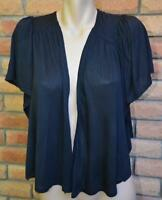 Katies Size 1XL-18/20 Black Gathered Back CARDI/Shrug NEW Stylish Batwing Slve.