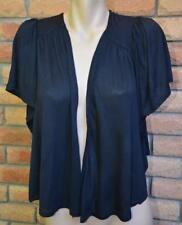 Katies Size 1XL-18/20 Black Gathered Back CARDI/Shrug NEW Stylish Batwing Slve.