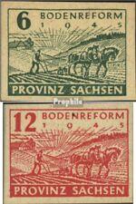 Sowjetische Zone (All.Bes.) 85-86 (kompl.Ausgabe) gestempelt 1945 Bodenreform