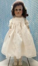 16.5� Antique Porcelain/jJointed Leather Body Doll