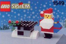 LEGO SANTA CLAUS & CHIMNEY 1549 Set Classic Xmas Holiday figure