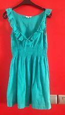robe Legere New Look  T 38 Rose Ou Bleu  Details Volants Taille Elastiquée