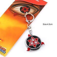 NEW Naruto Sasuke Sharingan Logo Keychain Key Ring Pendant Anime Cosplay Gift