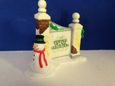 Dept 56 Heritage Village Sign With Snowman w/ box