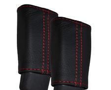 RED STITCHING 2X REAR SEAT BELT STALK SKIN COVERS FITS SUZUKI SWIFT 10-14