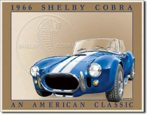 Vintage Replica Tin Metal Sign Shelby Cobra Ford Mustang 5.0 Saleen Fastback 801