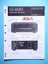 Service Manual Instructions For Kenwood KA-990EX ,ORIGINAL