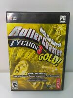 RollerCoaster Tycoon 3: Gold (PC, 2005) Disc Only NoManual Atari CD-Rom Software