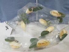 Floral Garland Floating Decor Ivory White Flowers Bloom Room Artisan Unopened