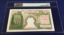 French Indochina 200 Piastres = 200 Riels 1953 p 98 AUNC PMG 55 no pinhole