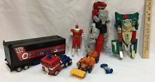 Transformers Optimus Prime Autobot Tractor Trailer Red T-Rex Dinozord Lot of 6