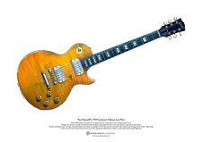 Paul Kossoff's 1959 Sunburst Gibson Les Paul ART POSTER A3 size