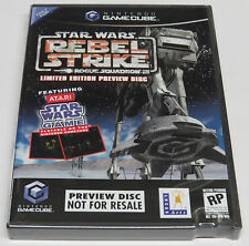 Star Wars Rogue Squadron III Rebel Strike Vista previa disco GameCube EE. UU. NTSC * Nuevo