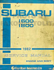 1982 Subaru Shop Manual 1600 1800 DL GL GLF Brat OEM Repair Service Book