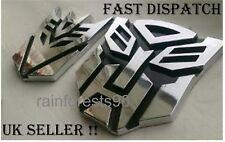 Amazing 3D Transformers Autobot / Decepticon emblem sticker car badge decal