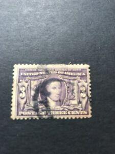 Scott # 325, used, 3¢ Louisiana Purchase Expo, 1904