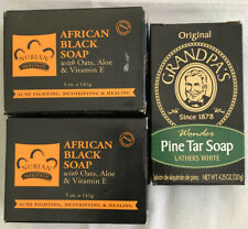 Grandpa'S Pine Tar Bar Soap 4.25 Oz & African Black Soap With Oats, Aloe & Vitam