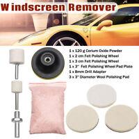 8Pcs 120g Cerium Oxide Glass Polishing Kit Windscreen Scratch Remover Repair